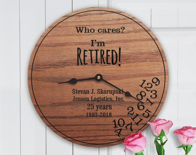 Funny Personalized Retirement Gifts - Who Cares I'm Retired! - Gifts for Retirement - Funny Retirement Gift - I'm Retired with Name