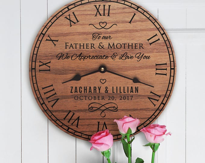 Personalized Wedding Gift for Parents - Parents Gift From Bride and Groom - Gift for Wedding Couples Parents - Parents Wedding Message
