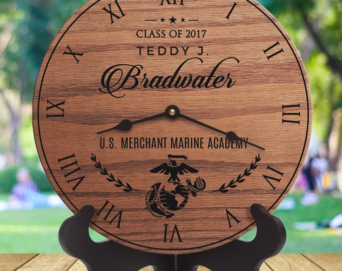 Merchant Marine Academy Gifts for Graduates - Graduate Gifts for Merchant Marine Graduates - Engraved Names - Gifts for Graduating Marine