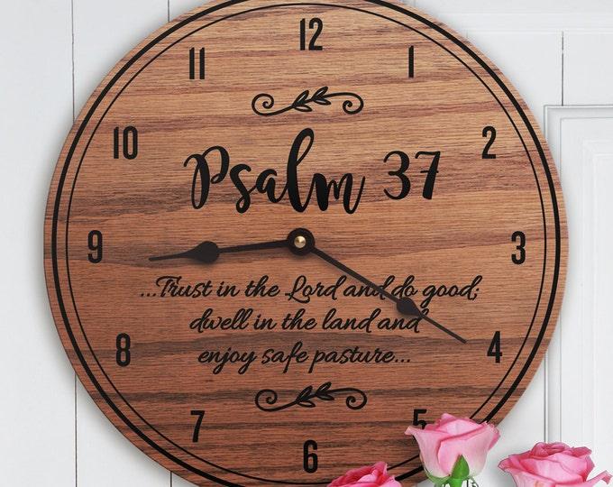 Psalm 37 - Psalm Decor - Scripture Decor - Wooden Decor - Encouraging Decor