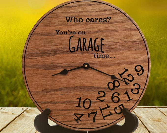 Funny Garage Gifts - Gift for Mechanics - Gifts for People Who Love to Tinker in Garage - Gifts for Garage - Garage decor - Garage Time