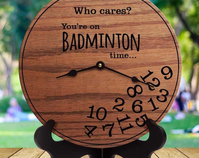 Funny Badminton Gifts - Who Cares You're On Badminton Time - Gifts for Badminton Player - Shuttlecock - Birdie