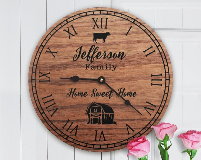 Personalized Dairy Cow Decor Gift - Milk Cow - Dairy Farm Decor - Cute Cow - Barn Decor - Home Sweet Home - Family Name - Dairy Farm