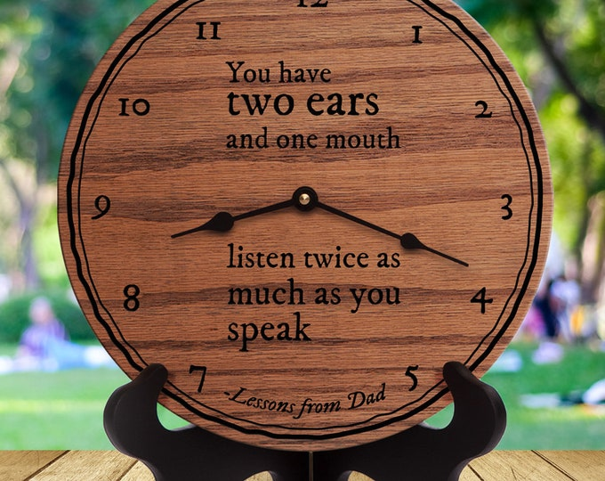 You Have Two Ears and One Mouth Listen Twice As Much As You Speak - Dad Quotes - Dad Legacy - Fatherly Advice - Lessons From Dad