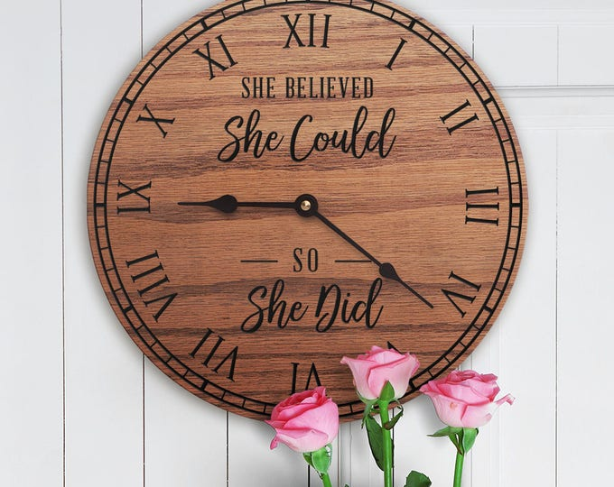 She Believed She Could So She Did - Encouraging Decor - Empowerment - Female - Girl Power - Motivational Decor - Hope - She Believed