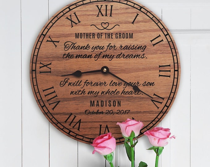 Gift for Mother of the Groom from Bride - Gift from Bride For Future Mother in Law - Custom Name - Wedding Day - Mother of Groom Message