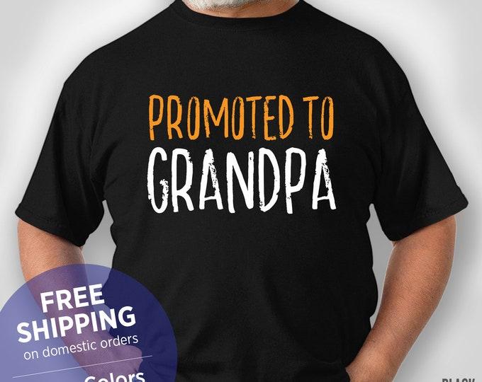 Promoted To Grandpa - New Grandpa Tshirt - Funny Shirt - Grandpa Birthday Gift - Grandpa Christmas Gift