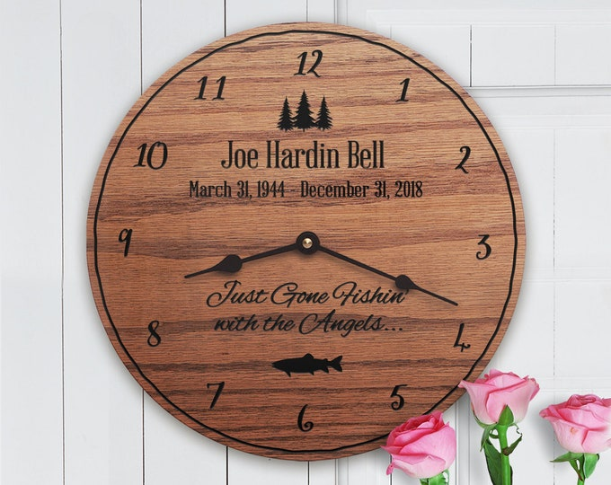 Memorial Gift Dad - Memorial Gifts for Loss of Father - Fisherman - Outdoors - Nature - Memorial Gift Ideas - Fisherman Memorial