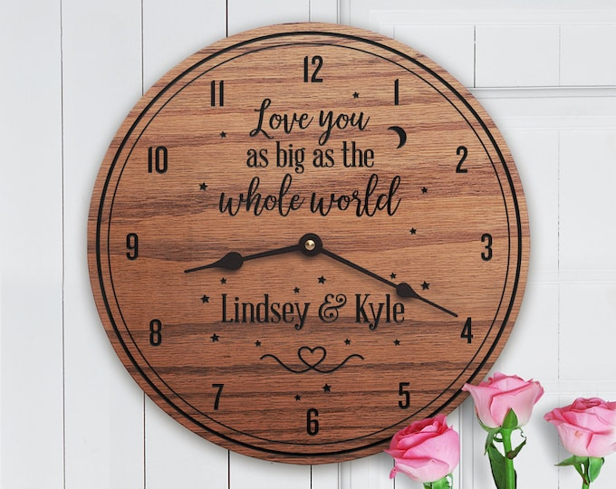 Unique Gifts for Boyfriend - Personalized Gifts for Boyfriend - Custom Name - Anniversary - Love You As Big As The Whole World