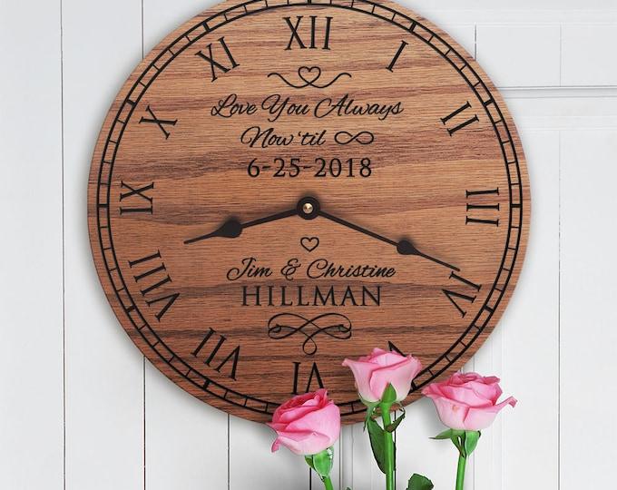 Love You Always Now Til Forever - Wedding Gift - Anniversary - Infinity - Custom Names - Custom Date