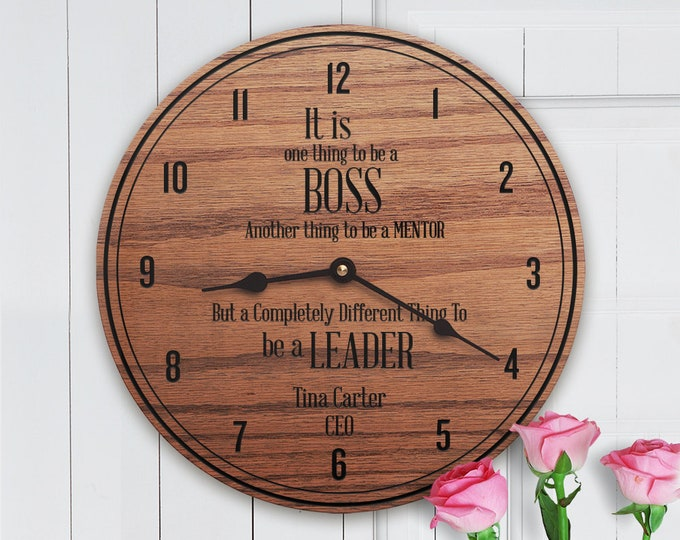 Personalized Boss Gift - Custom Gift For Boss - CEO Gift - Director Gift - Gift From Office Staff - Leadership - Be a Leader Modern
