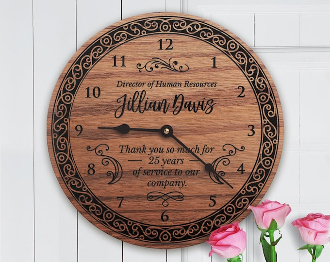Retirement Gifts for Lady Boss - Retirement Gifts for Women Boss - Retirement Gift Ideas for Women - Women's Retirement Clock