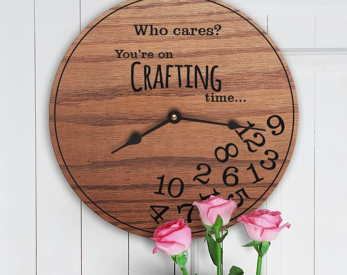 Funny Gifts for Crafters - Gifts for People Who Love to Craft - Unique Craft Gifts - Crafting Gifts - Crafting Time