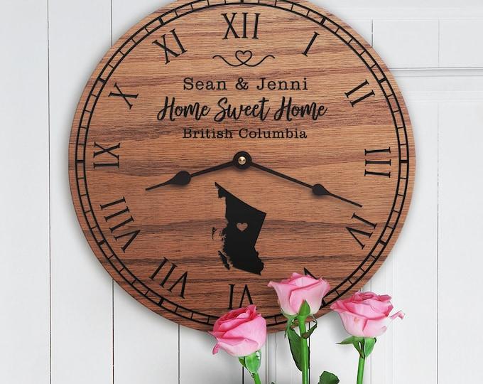 British Columbia Housewarming Gift - Canada - British Columbia Decor - British Columbia Map - Home Sweet Home - British Columbia Home