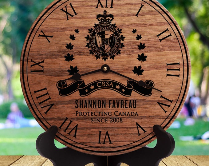 Canada Border Services Agency - CBSA - Retirement Gift - Custom Names - Engraved - Academy - Constable - Guard - Agent