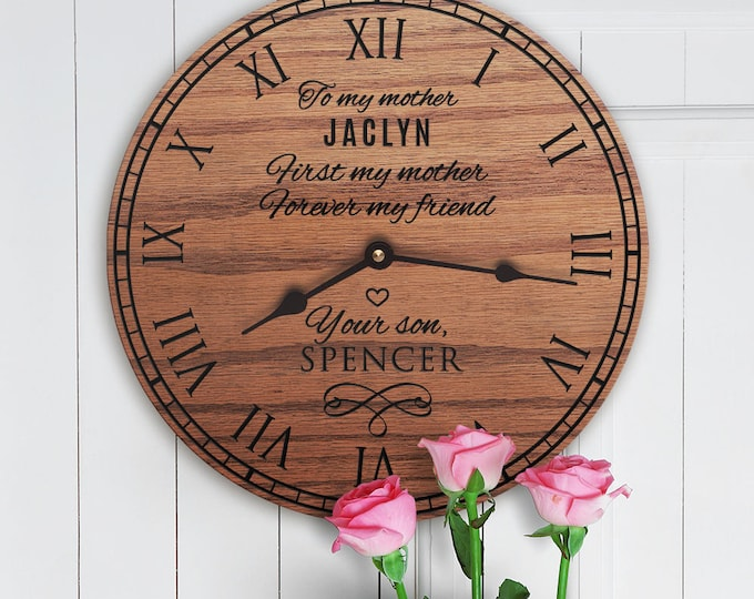 Personalized Gifts For Mom From Son - Custom Birthday Gift For Mother Ideas - Unique - Special - Custom Message - Mothers Day - Mothers Son