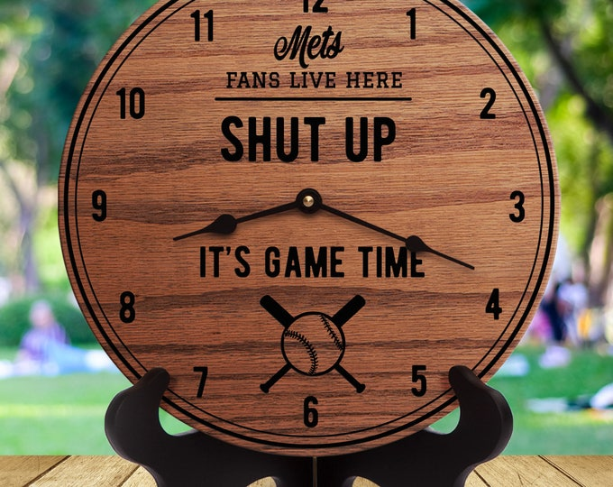 Mets - Shut Up It's Game Time - Sports Gifts - Gift For Sports Fans - Sports Room Decor - Sports Are On - For Him - Husband - Men