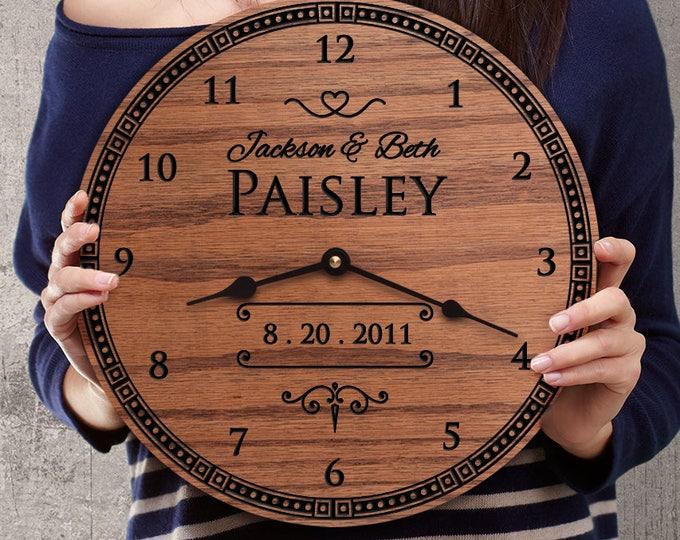 Anniversary Gift - Wedding Anniversary - Custom Names - Engraved Names - Personalized Names - Loyal Vision