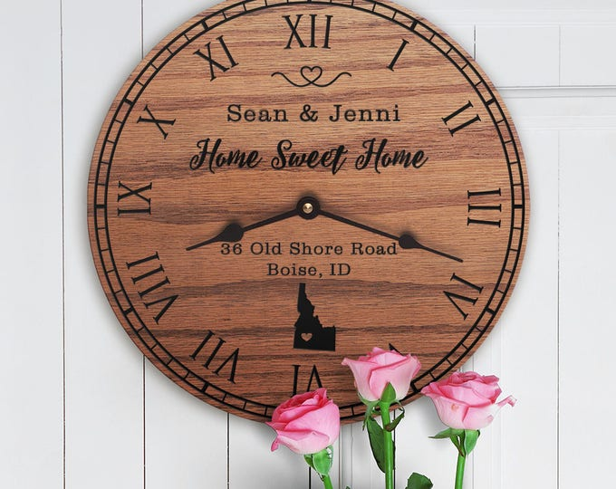 Idaho Housewarming Gift - New Home - State Map - Living in Idaho - Home ID - Gem State  - Home Sweet Home - Street Address