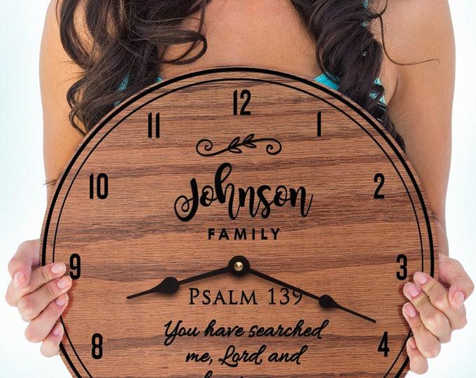 Psalm 139 - 139th Psalm - Bible Verse - Psalms - Custom Names - Family Last Name - Psalm 139 Family