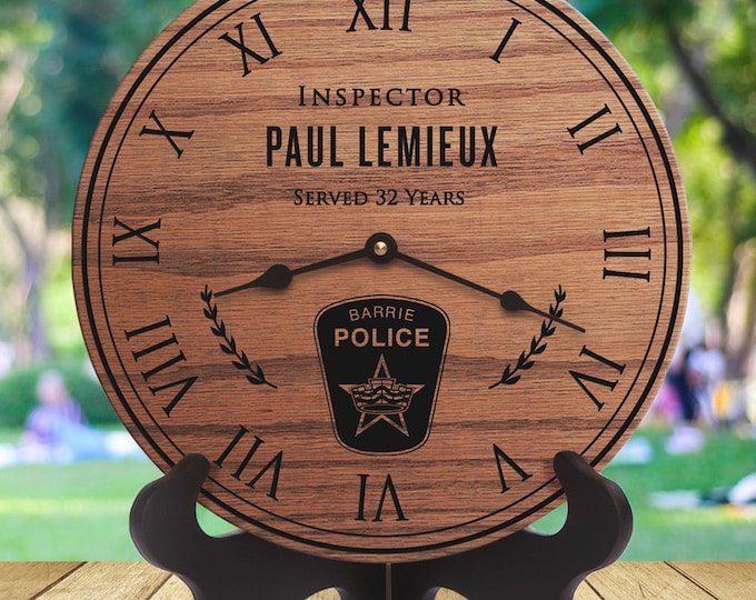 Barrie Police - Ontario Police Officer - Retirement Gift - Custom Names - Retirement - Training - Academy - Constable - Cadet