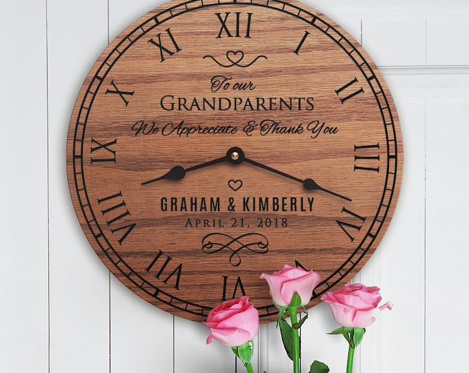 Wedding Gift for Grandparents - For Grandma - For Grandpa - Custom Dates - Custom Names - Wedding Gift for Grandparents
