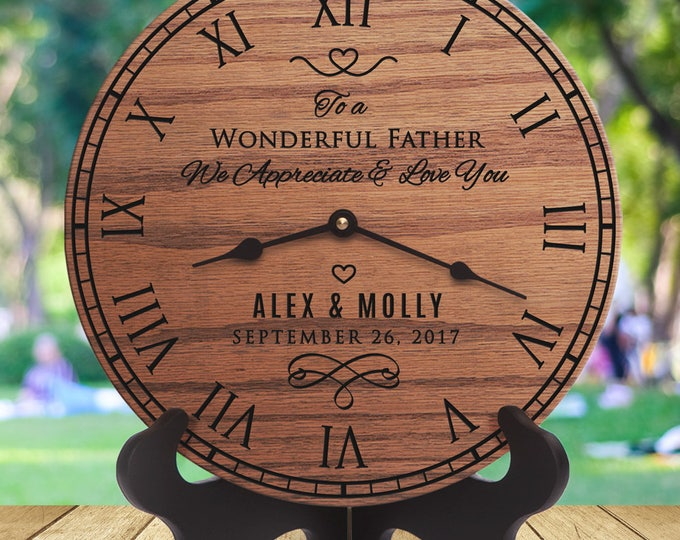 Dad Wedding Gift From Daughter - Personalized Wedding Gift - Father in Law Wedding Gifts - Wedding Day Gifts for Father - Dad In Law Message
