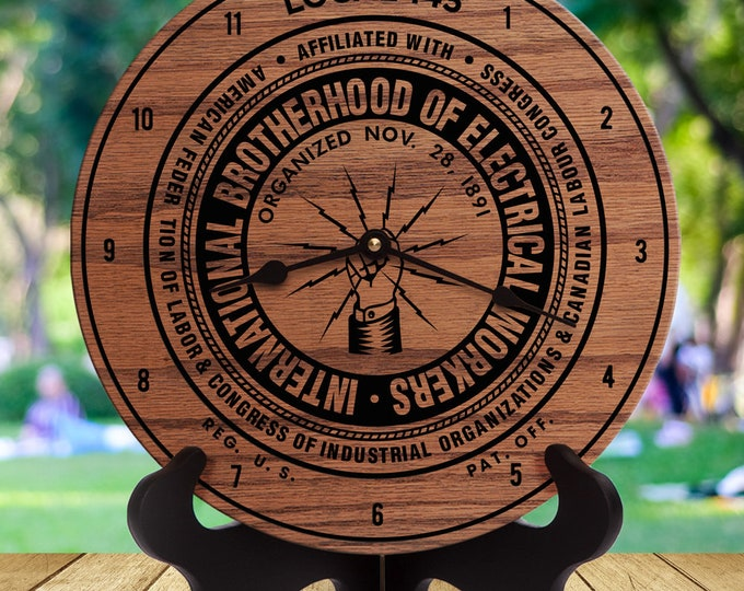 Full Logo - Marketing - Business Client - Promotional - Logo Engraved - Custom Business Gift - Non-Profit Gift - Electrician - Union - IBEW