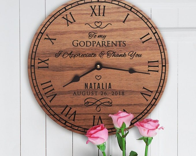 Personalized Wedding Gift For Godparents - Custom Names - Custom Message - Wedding Gift Unique - Wedding Gift For Godparents