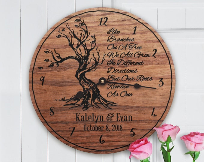 Parents Wedding Gift - Personalized - Like Branches On A Tree We All Grow In Different Directions But Our - Roots Remain As One