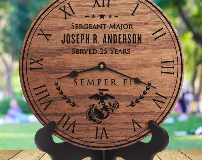 USMC Retirement Gift - Gift for Marines -  Retirement Gift for Marines - Gifts for Retirement From the Marine Corps - Engraved - Marine Gift