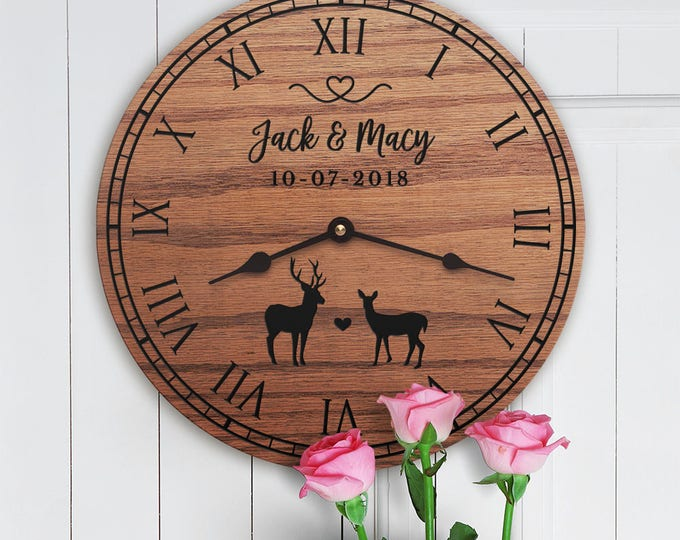 Personalized Deer Decor Gift - Cute Deer Decor - Gift for Deer Hunters - Cabin Decor - Ranch Decor - Cowboy - Wedding Gift - Deer Lovers