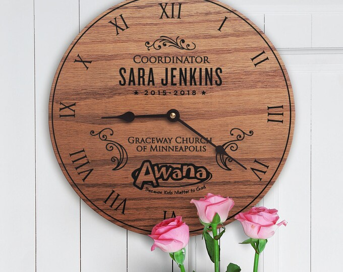 Personalized Awana Leader Gift - Awana Recognition Gift - Awana Sparks - Awana Cubbies - Custom Name - Church Name - Awana Leader