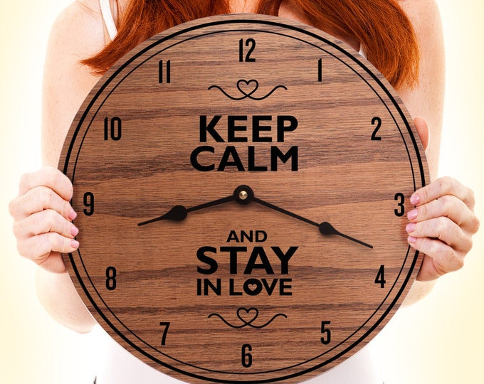 Keep Calm And Stay in Love - Gift for Couple - Valentines Gift For Couple - Keep Calm Decor - Love Decor - Keep Calm