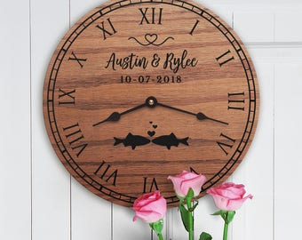 Personalized Fish Decor Gift - Kissing Fish - Gift for Fish Lovers - Wedding Gift for Home - Pet Fish - Fish Gift - Goldfish Gift -Cute Fish