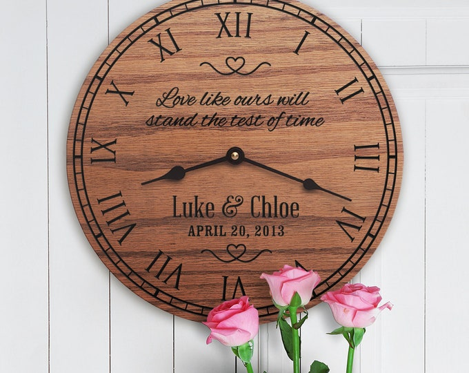 Love Like Ours Will Stand The Test Of Time - Wedding Anniversary Gift - Custom Dates - Anniversary Poem - Custom Family Names - Test Of Time