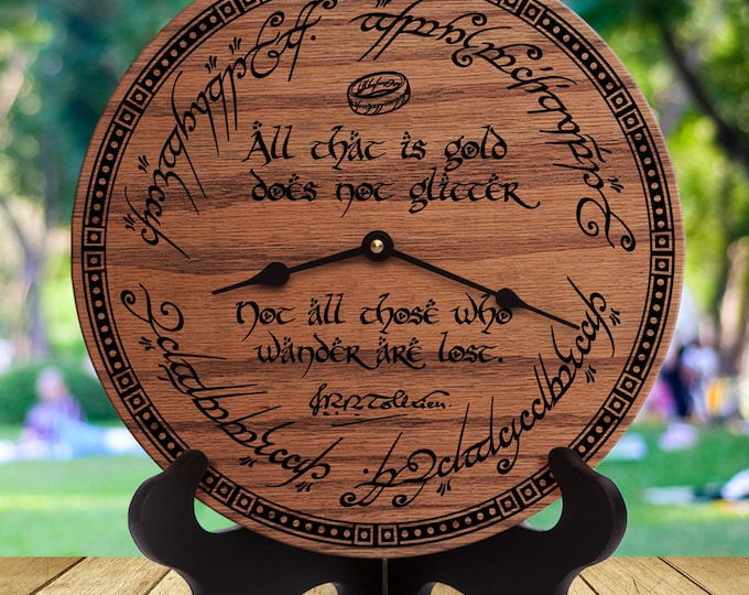 Lord of the Rings Decor - JRR Tolkien Quote - LOTR - All That Is Gold Does Not Glitter Not All Those Who Wander Are Lost - All That Is Gold