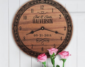 Personalized Wedding Gift with Names Engraved Into Wood - Engraved Wood Gifts With Wedding Couples Names - Special Gift - Merry Legacy