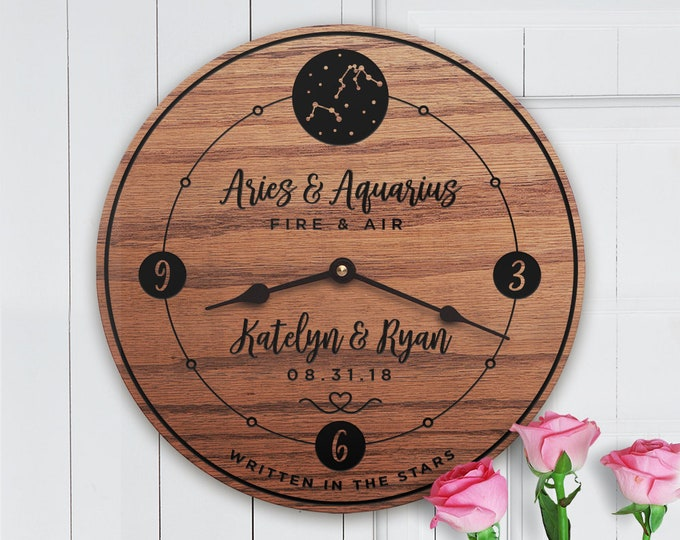 Couples Stars - Couple Constellation - Zodiac Signs - Custom Dates - Custom Names - Couples Names - Anniversary Gift - Written In The Stars