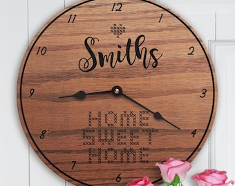 Gift for Knitters - Knitting - Custom Names - Sewing - Quilting - Knitters Gift Clock