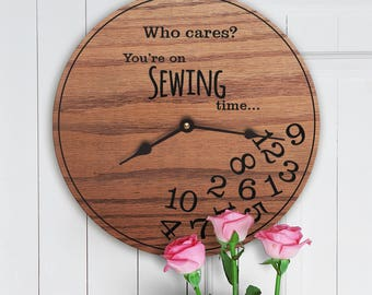 Funny Gifts for Sewing Hobby - Gifts for People Who Love to Sew - Unique Model Sewing Gifts - Sewing Decor - Sewing Gifts - Sewing Time