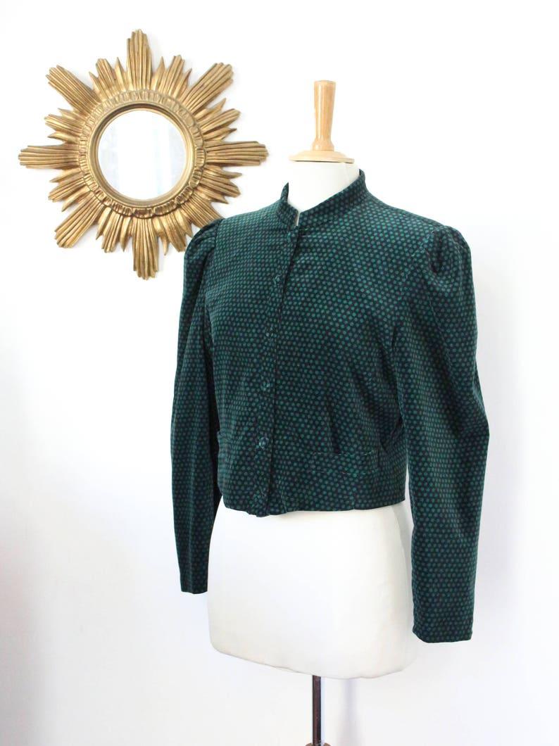 911e5fcbc66 CACHAREL Paris vintage jacket with polka dots short velvet | Etsy