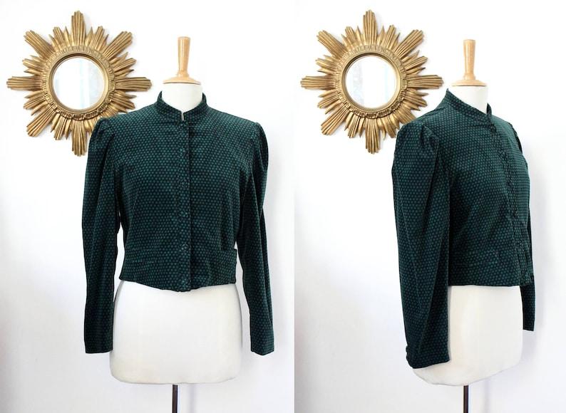 3cd106e11e CACHAREL Paris vintage jacket with polka dots short velvet | Etsy