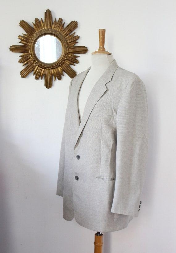 3a972251963 YSL light vintage Blazer jacket grey marl Yves Saint Laurent | Etsy