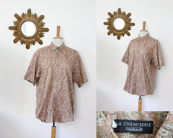 CACHAREL / Cacharel Vintage Short Sleeve Shirt The
