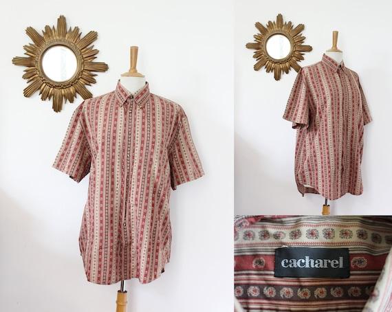 CACHAREL, vintage shirt Cacharel cotton Paisley pa