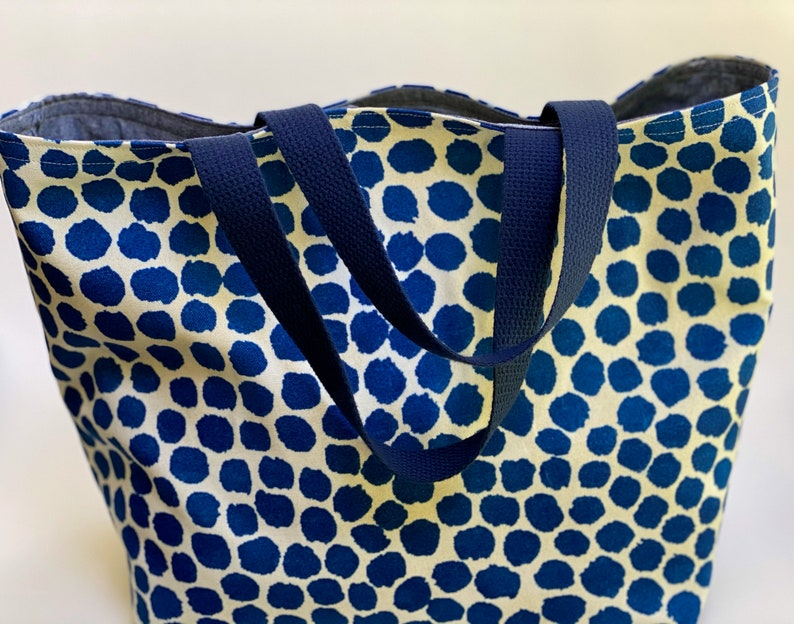 Blue Spotted Tote Bag