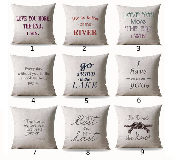 Throw Pillow Case Covers Throw Pillows With Words Throw Etsy Delectable Pillow Case Covers For Throw Pillows