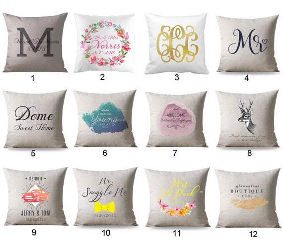 Wedding Pillows Personalized Wedding Gift Unique Wedding Etsy