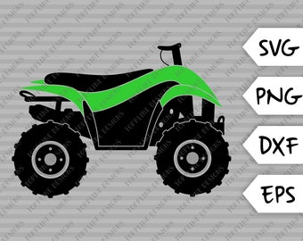 All Terrain Vehicle / 4 Wheeler - SVG / PNG / DXF / eps - Cut file, Summer